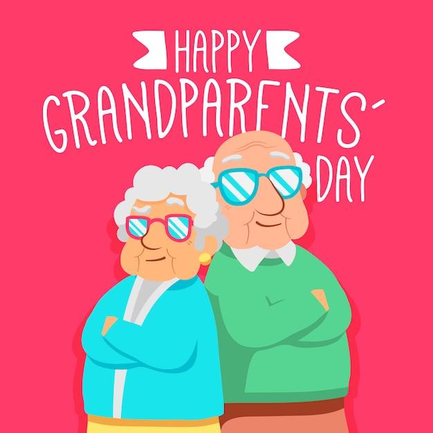 Dia nacional dos avós Vetor grátis
