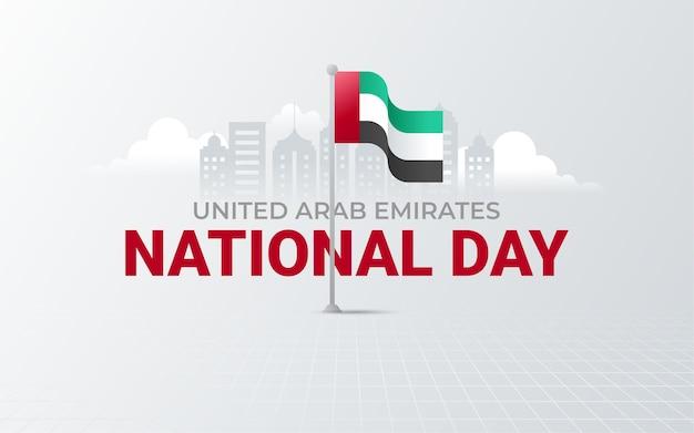 Dia nacional dos emirados árabes unidos Vetor Premium