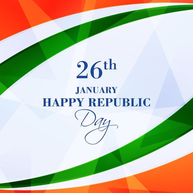 Dia realista da república indiana Vetor grátis