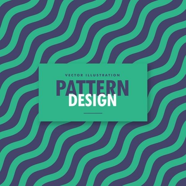 Diagonal fundo ondulado linhas de estilo vintage Vetor grátis