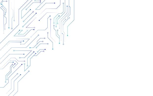 Diagrama de circuitos de fundo de tecnologia branca Vetor Premium