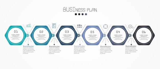 Diagrama de educação. existem 6 etapas, nível use vetores no design Vetor Premium