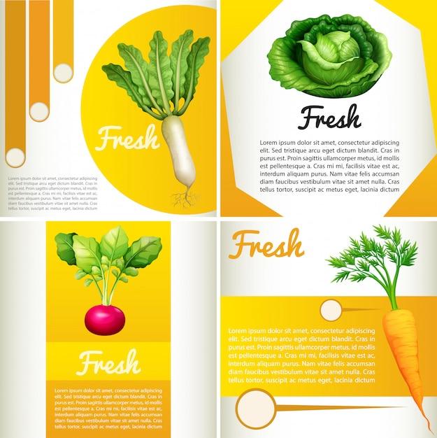 Diagrama de infográfico com legumes frescos Vetor grátis