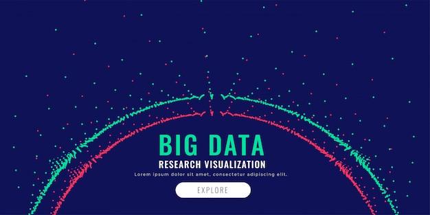 Diagrama de malha de partículas de dados grandes em forma circular Vetor grátis