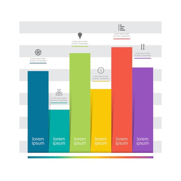 Diagrama gráfico gráfico barras gráfico análise financeira estatística negócios infográfico Vetor Premium