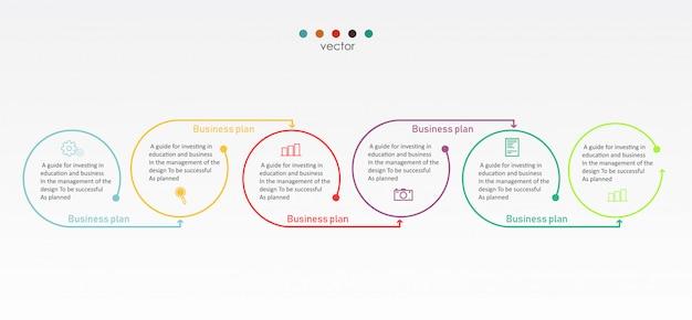 Diagrama negócios e educação ilustração vetorial Vetor Premium