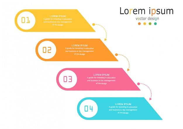 Diagrama negócios e educação infográfico modelo Vetor Premium