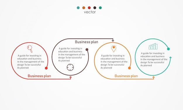 Diagrama negócios e educação vector illustration Vetor Premium