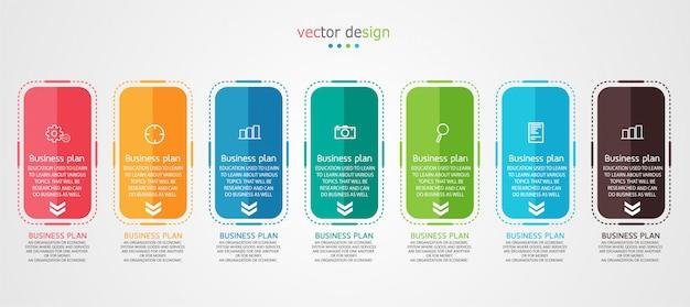 Diagrama negócios utilizados na apresentação da educação Vetor Premium