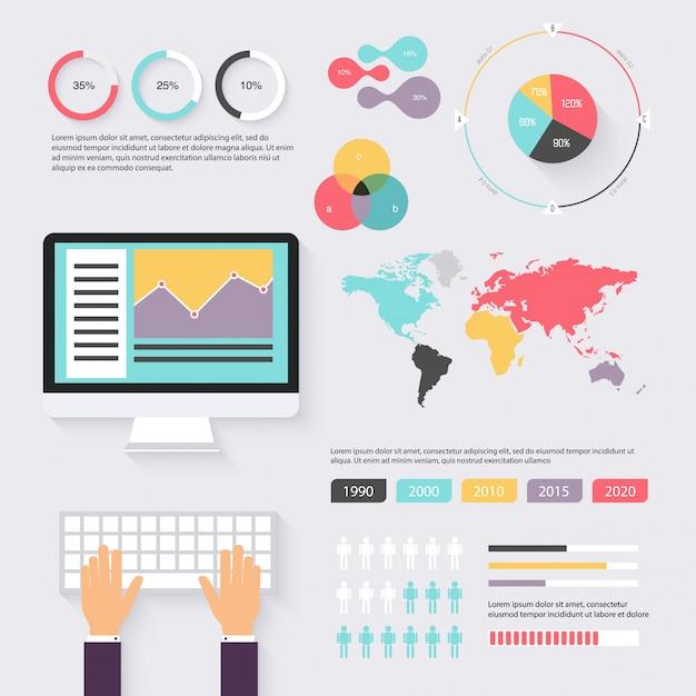 Diagramas de negócios Vetor Premium
