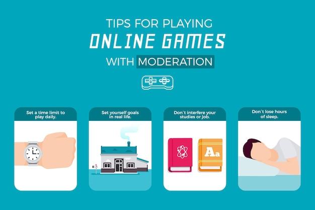 Dicas para jogar jogos online com moderação Vetor grátis