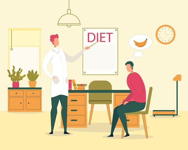 Dieta vegetariana, ilustração de comida saudável Vetor Premium