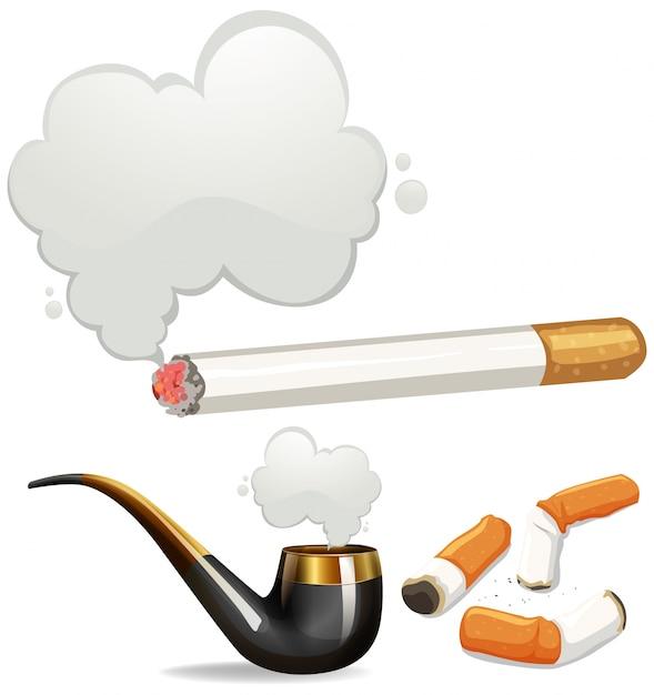 Diferentes tipos de cigarro Vetor grátis
