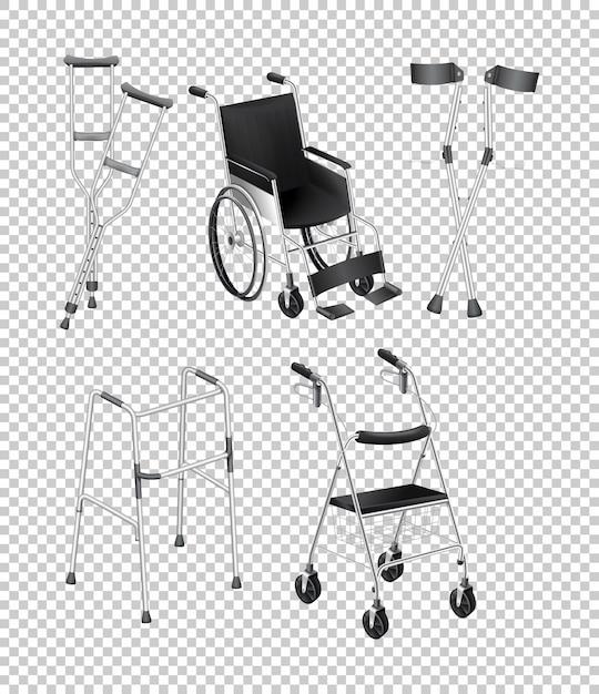 Diferentes tipos de equipamentos de handicap Vetor grátis