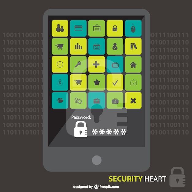 Digitais vetor segurança download gratuito Vetor grátis