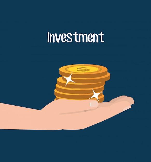 Dinheiro e investimento empresarial Vetor grátis