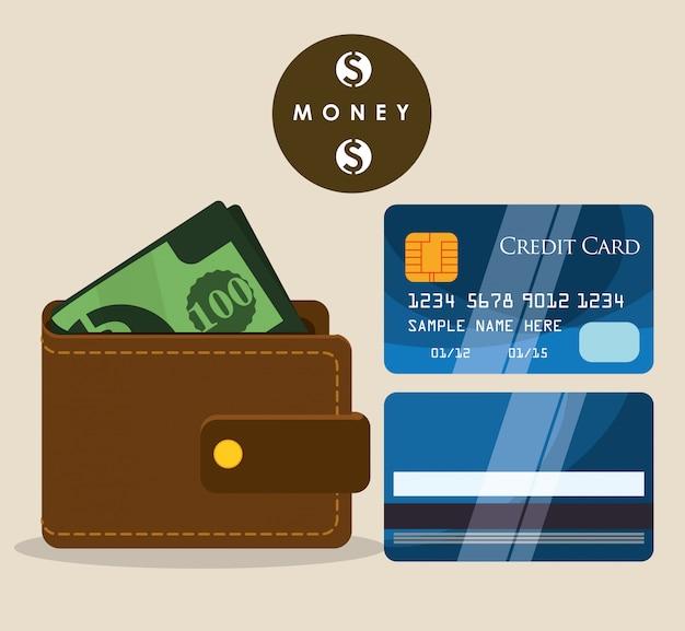 Dinheiro e investimento Vetor Premium