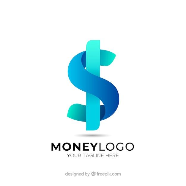 Dinheiro, logotipo, conceito Vetor grátis