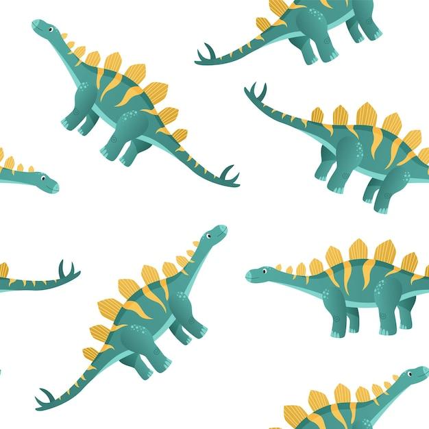 Dinossauro colorido em estilo cartoon Vetor Premium