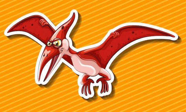 Dinossauro com asas voando Vetor grátis