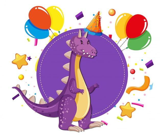 Dinossauro em uma festa Vetor grátis