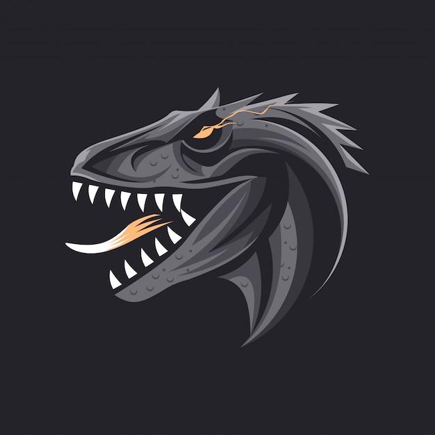 Dinossauro feroz Vetor Premium