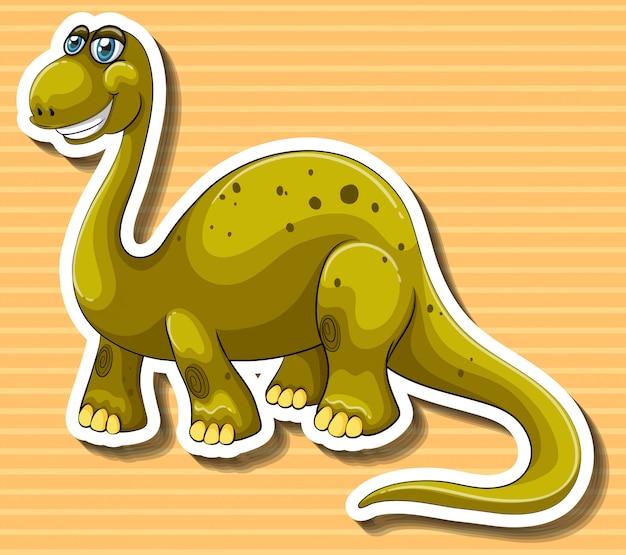 Dinossauro marrom com cara feliz Vetor grátis