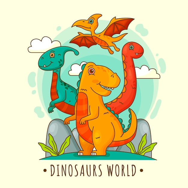 Dinossauros Vetor Premium