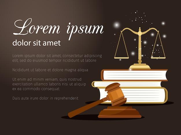 Direito e justiça Vetor Premium