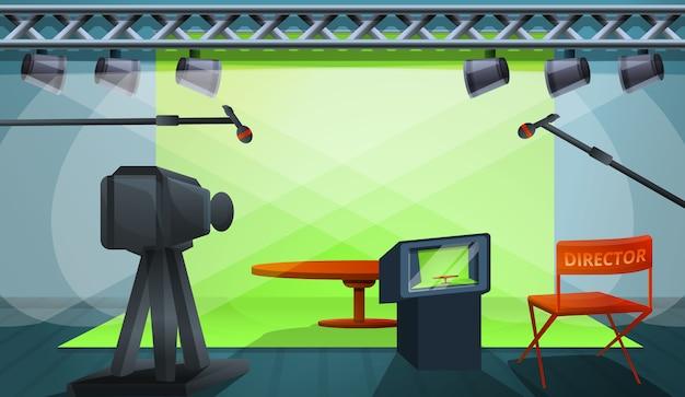Diretor filme produção conceito ilustração, estilo cartoon Vetor Premium