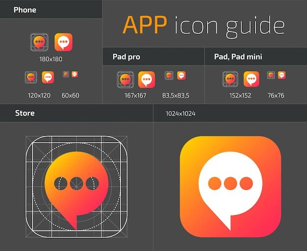 Diretrizes de design de ícones de botão ui ios Vetor Premium