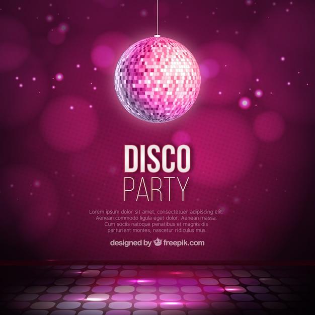 Disco background partido Vetor Premium