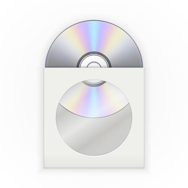 Disco cd no envelope Vetor Premium