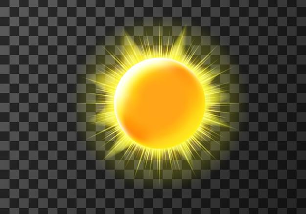 Disco solar com raios Vetor grátis