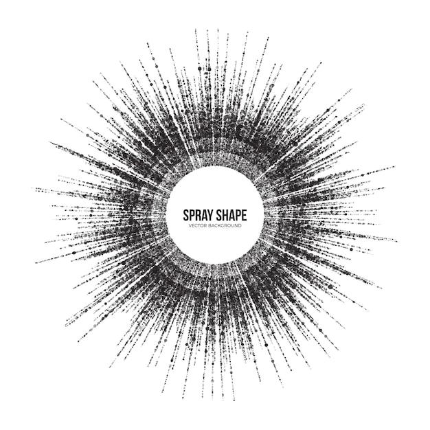 Dispersão radial rodada partículas abstract vector background Vetor Premium