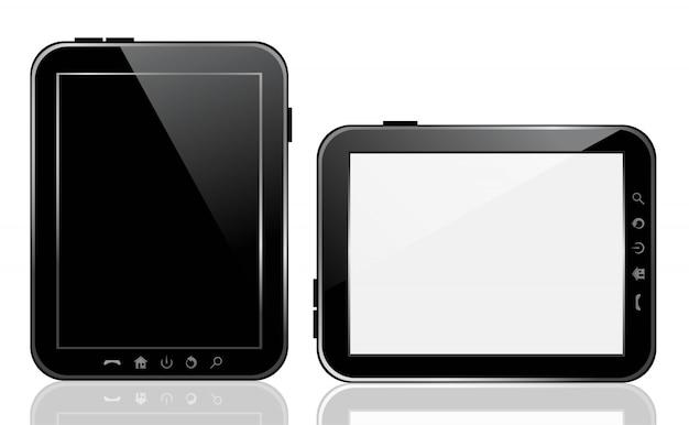 Dispositivo de tablet de vetor. Vetor Premium