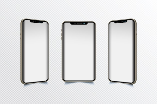 Dispositivo móvel em diferentes visualizações Vetor grátis