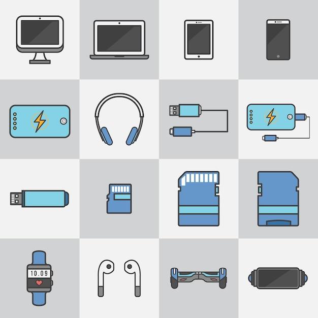 Dispositivos de tecnologia Vetor grátis
