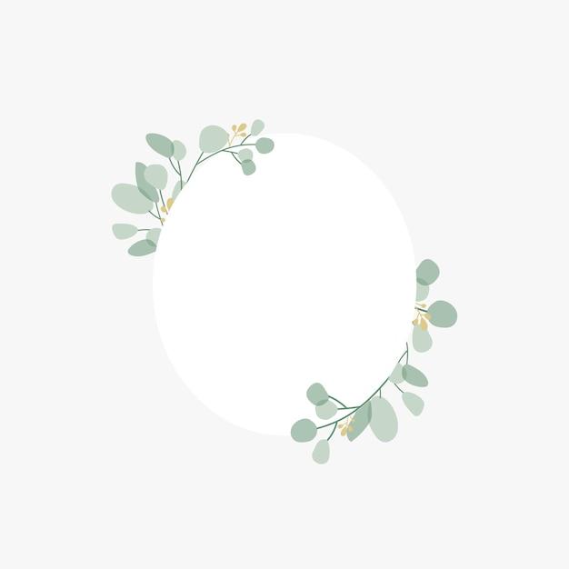 Distintivo de casamento botânico Vetor grátis