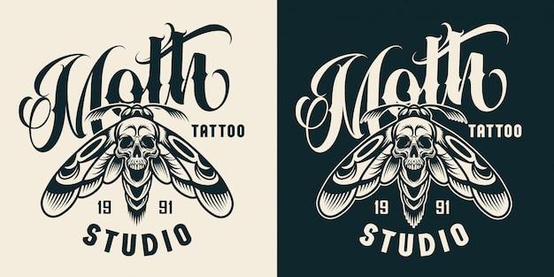 Distintivo de estúdio de tatuagem vintage Vetor grátis