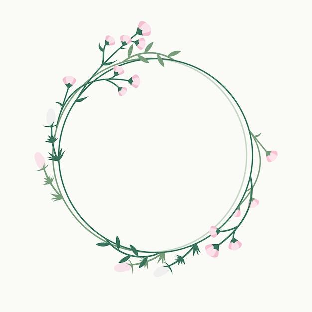 Distintivo de quadro floral Vetor grátis
