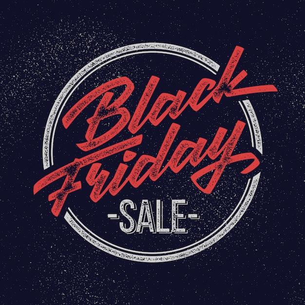 Distintivo de rotulação de venda sexta-feira negra Vetor Premium