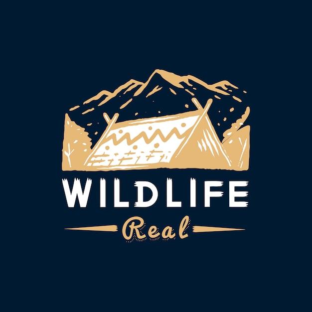 Distintivo de vida selvagem e aventura Vetor grátis