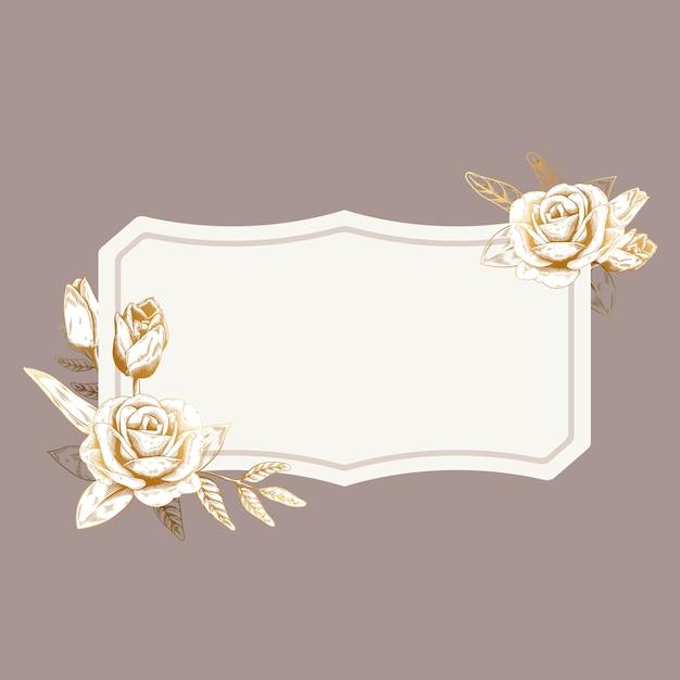 Distintivo floral romântico Vetor grátis
