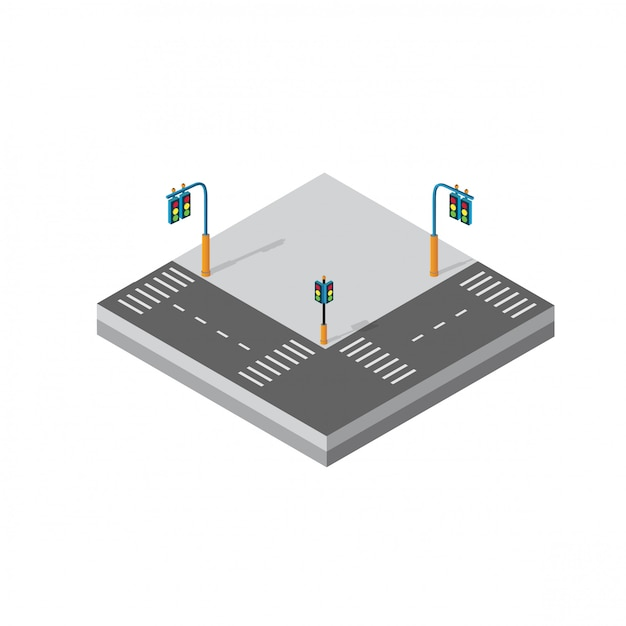 Distrito de bloco de módulo 3d isométrico Vetor Premium