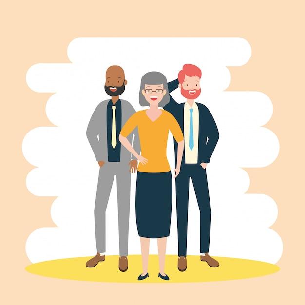 Diversidade, homem e mulher de negócios Vetor grátis