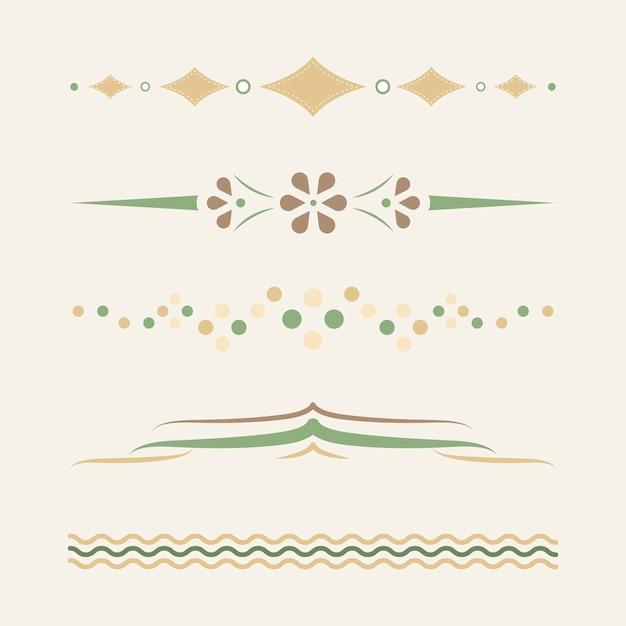 Divisores pastel design vector coleção Vetor grátis