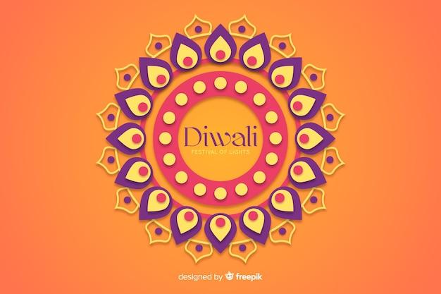 Diwali fundo em estilo de jornal Vetor grátis