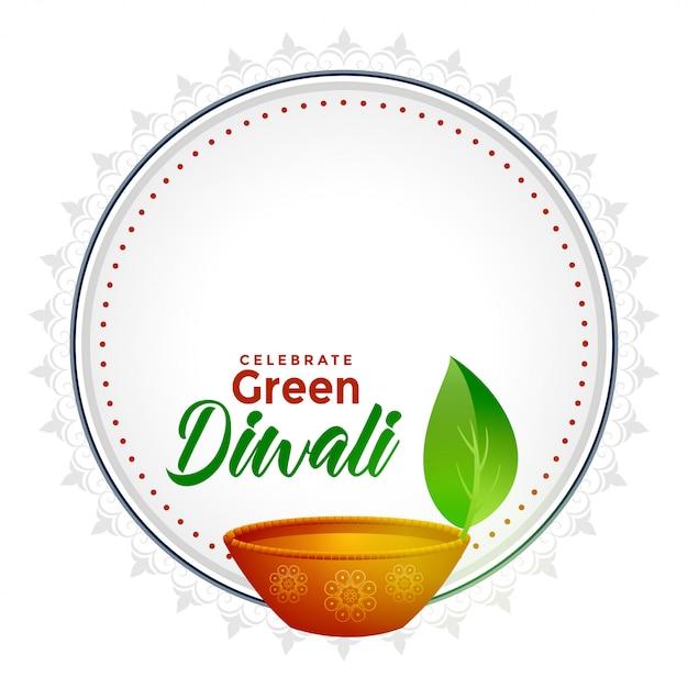 Diwali verde com espaço de texto Vetor grátis