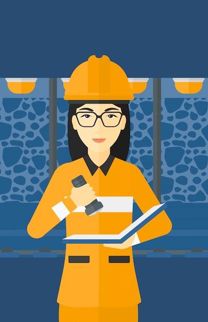 Documentos de verificação de mineiro Vetor Premium